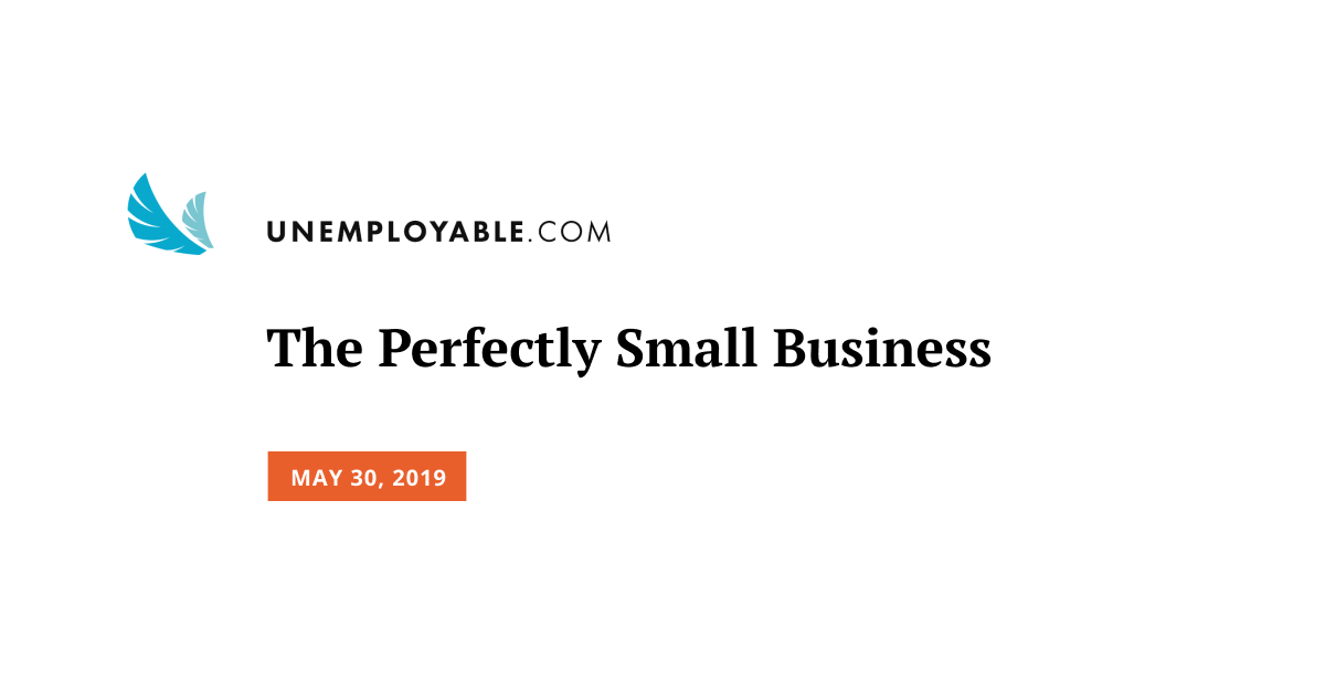 The Perfectly Small Business