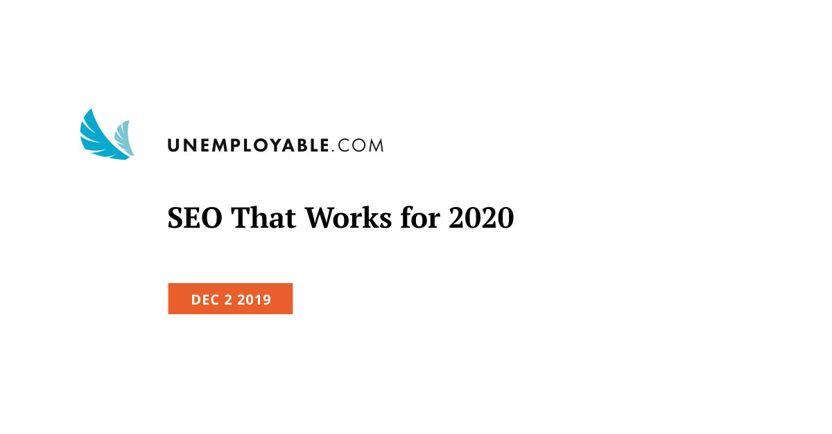 SEO That Works for 2020