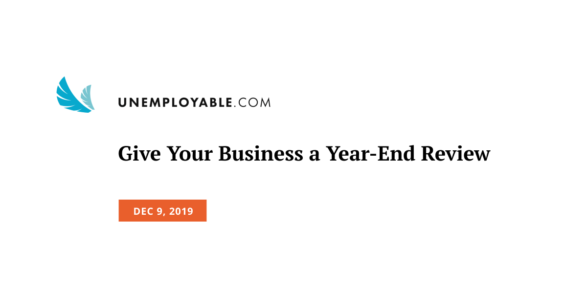 Give Your Business a Year-End Review
