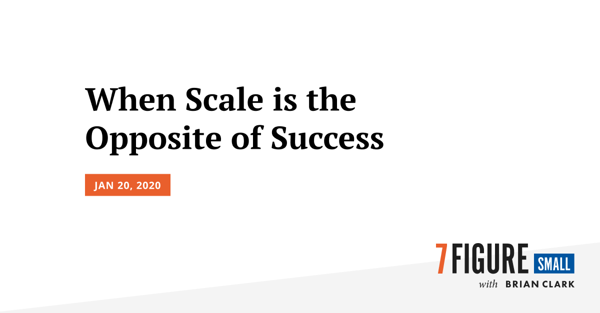 When Scale is the Opposite of Success